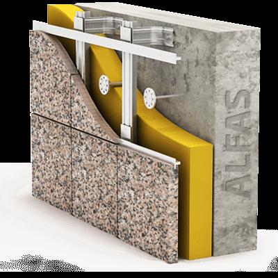 Монтаж вентилируемого фасада из натурального камня