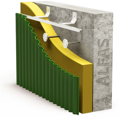 Монтаж вентилируемого фасада из профлиста