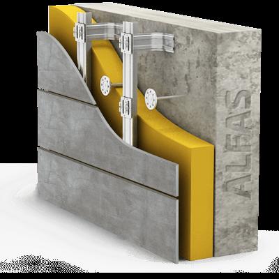 Монтаж вентилируемого фасада из тонкого керамогранита